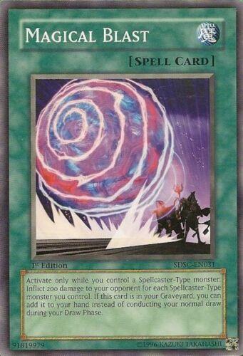 3x Yugioh SDSC-EN031 Magical Blast Common