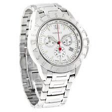 Versace V Sport Mens Silver Dial Swiss Quartz Chronograph Watch 12C99D001S099