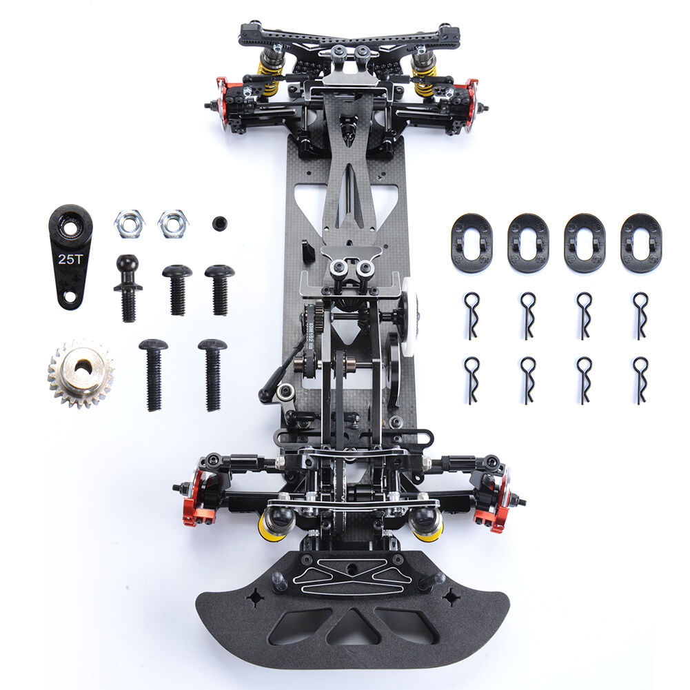 RC Electric 1 10 Model Drift Racing Car 4WD Body Frame Chassis G4 Alloy&Carbon