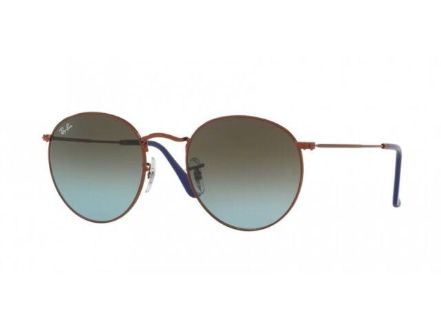 01c911f044 Sunglasses Ray-Ban Round Metal Rb3447 9003 96 50 Dark Bronze Blue ...