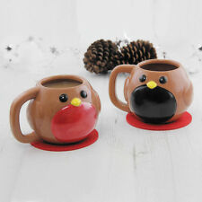 Magic Colour Changing Robin Coffee Mug Heat Changes Color Nose Novelty Xmas Gift