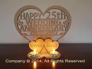 Personalised-Tea-light-holder-Wedding-Anniversary-Keepsake-gift-Mdf-6mm-thick