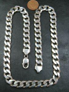 Vintage sterling silver curb link necklace.