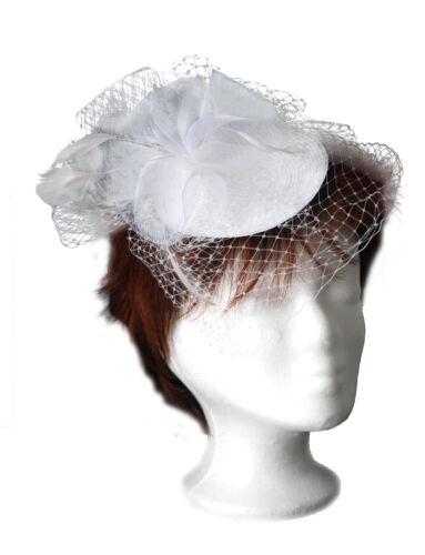 McBurn Fascinator Sinamay Federn Hut Haarschmuck Hochzeit Standesamt 3 Farben