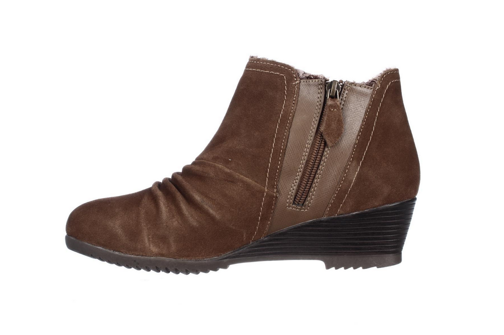 Sporto, Drape2 Water-Resistant Ruched Suede Bootie in Chocolate 9.5 W