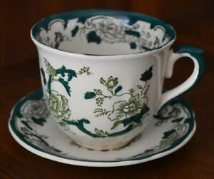 LOVELY VINTAGE MASON'S CHARTREUSE CUP AND SAUCER - HAVE 5
