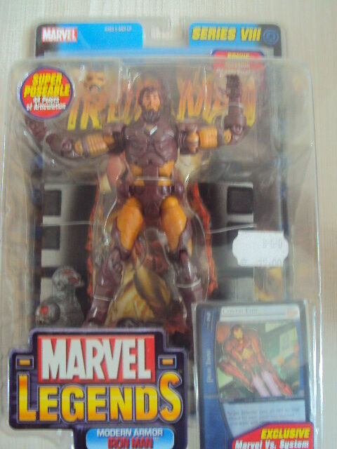 MARVEL LEGENDS SERIES 8 : IRON MAN MODERN ARMOR 2004 TOY BIZ NEUF