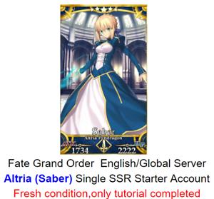 Fate Grand Order English FGO Fresh Starter account Altria Pendragon NA