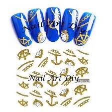 Nail Art Water Transfer Stickers-Tattoo Adesivi Unghie-Orologio-FANTASIA MARINA!