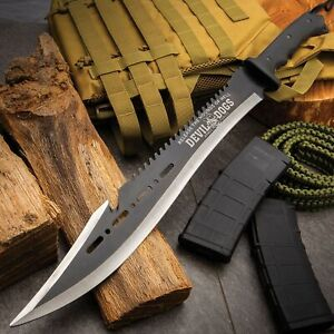 Devil-Dogs-Armed-Forces-Sawback-Machete-and-Sheath-Survival-and-Clearing-Brush