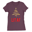 Lit AF Womens T-Shirt Christmas Funny Top Rude Cool Swag Gift Present Filler