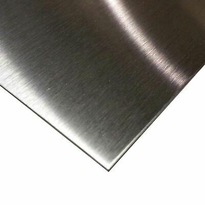 """STAINLESS STEEL SHEET 1//8/"""" x 12 /"""" x 12/"""" alloy 304 #3 FINISH"""