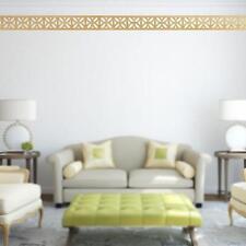 Hot 3D Mirror Wall Stickers Ceiling Border Mural Art Home Living Room Decor 6L