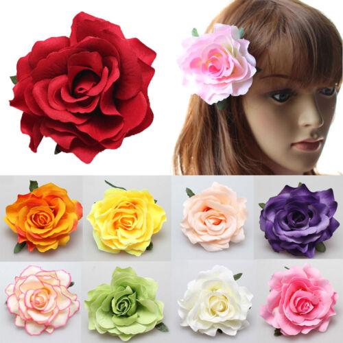 Damen Ansteckblume Haarspange Haarklammer Rose Blume Blüte Haarclip Brautjungfer
