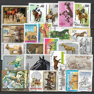 HORSES-Collection-Packet-of-25-Different-WORLD-Stamps-featuring-HORSES-Lot-2