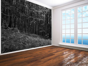 Beautiful-Deep-Forest-black-and-white-photo-Wallpaper-wall-mural-7212755-Nature