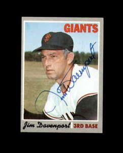 Jim Davenport Hand Signed 1970 Topps San Francisco Giants Autograph