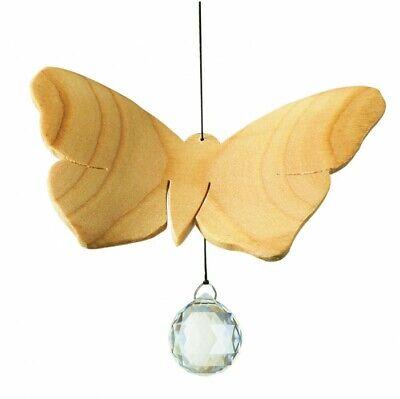 Fensterschmuck Schmetterling Swarovski Kristall Holz Fensterdeko Geschenk NEU