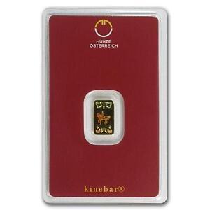 1 G Austrian Comme Neuf Hologramme Kinebar Solide Fine 999.9 Gold Bullion Bar Scellé-afficher Le Titre D'origine Cqhphhkk-07213224-841646527