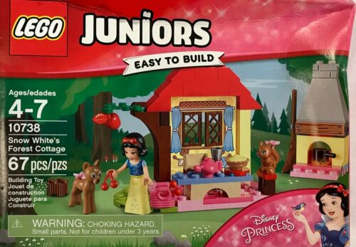 LEGO Juniors Disney Princess Snow White's Forest Cottage #10738 creased box