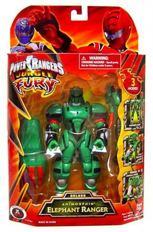 Power Rangers Jungle Fury Deluxe animorphin  Elefante Ranger muñeco