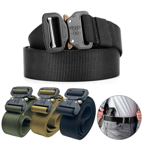 Tactical Men Military Belt Buckle Adjustable Combat Waistband Rescue Rigger Tool