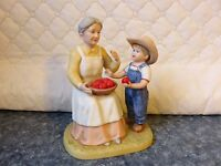 Vintage 1985 Denim Days 1526 Danny's Grandma Homco Figurine Decoration