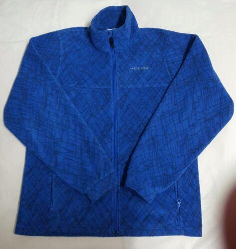S 20 Womens Blue m Ungdom Sweater Columbia 18 Jacket Zip Royal Fuld Fleece fwqqPS6
