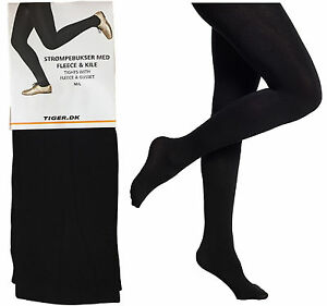 LADIES-FLEECE-THERMAL-TIGHTS-EX-STORE-FOOT-IN-BLACK-SUPER-WARM-UK-8-14-BNWT