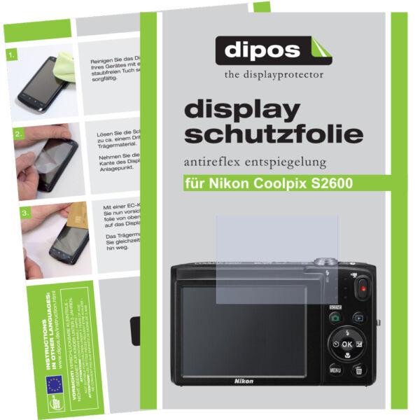 2x Nikon Coolpix S2600 Film De Protection D'écran Protecteur Antireflet