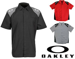 Pit Crew Shirts >> Oakley Track Woven Crew Shirt Pit Crew Garage Mechanic Men S