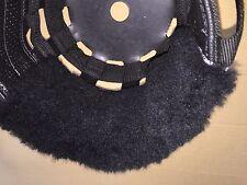 SPECIAL Thick Black Sheepskin Noseband Pad fits Best Friend Horse Grazing Muzzle