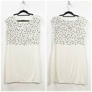 Boston-Proper-Medium-Womens-White-Stud-Embellished-Jersey-Knit-Shift-Dress