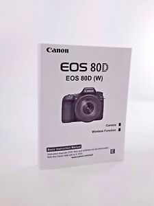 Details about Canon EOS 80D Instruction Owners Manual EOS 80D Book NEW