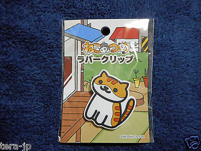 Shirochatora-san Japan Hit-Point Cat Neko Atsume Rubber Clip