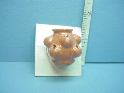 Miniature Terra Cotta Strawberry Pot #33-8 side opening Karen/'s 1//12th