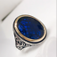 Turkish Handmade 925 Sterling Silver solid Sapphire Stone Mens Ring ALL SİZE 02