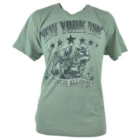 York Ink Tattoos Bulldogs Tv Show Distressed Ny Olive Shirt Tee Adult