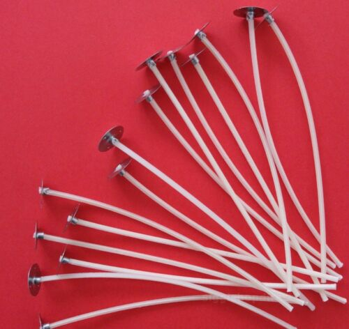 60 Pcs Pre Waxed Wicks with Tab 120 mm// 12cm long for Candle Making High Quality