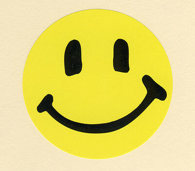 10 Yellow Happy Smile Face - Large Stickers - Party Favors - Rewards