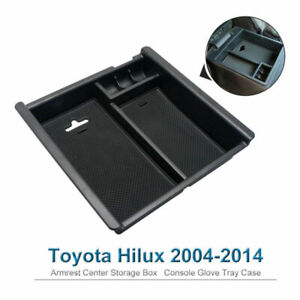 For-Toyota-Hilux-2004-2014-Console-Glove-Tray-Case-Armrest-Center-Storage-Box