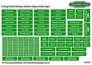 British-Railways-Southern-Region-Model-Railway-Station-Signs-O-Gauge-7mm