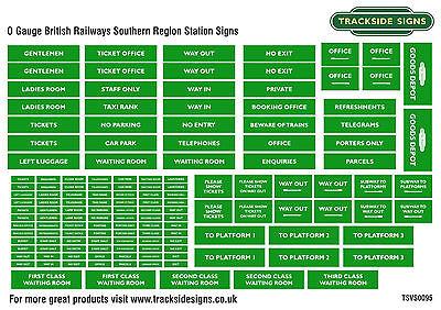 British Railways Southern Region Model Railway Station Signs - O Gauge 7mm  | eBay
