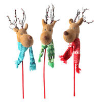 Raz Import25 Reindeer Head On Stick Christmas Ornamenttree/wreathu Pick Deer