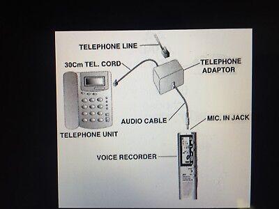 Universal Home Telephone Phone Jack Recorder Adapter