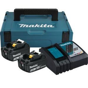 Makita-18V-Ersatzakku-Ladegeraet-2x-Akku-3-0-Ah-Makpac-Power-Source-KIT