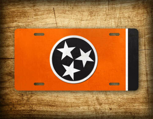 Official Tennessee State Flag ~VOLS~ License Plate TN Auto Tag Volunteers Orange