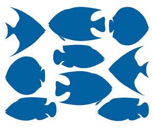 FISCHE-AUFKLEBER-Maritim-Fish-Meer-Bad-Deko-Fliesen-Spiegel-Glas-Kueche-Sticker
