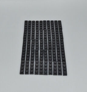 LEGO 50 x Basisplatte neues dunkelgrau Dark Bluish Gray Plate 1x4 3710