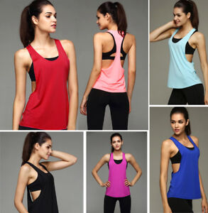 Sexy-Women-Summer-Loose-Gym-Sport-Vest-Workout-Tank-Tops-Fitness-Yoga-Blouse-US